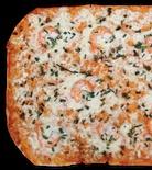 Pizza a la Piedra Gamberi