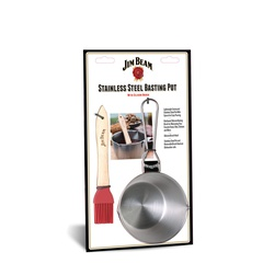 Pocillo Salsero Acero Inoxidable Con Brocha Jim Beam