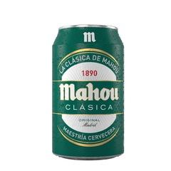 Cerveza Mahou clásica lata 330ml.