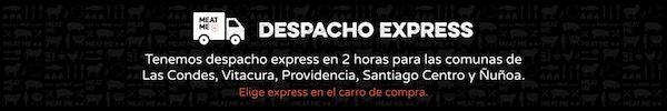 Despacho Express: Tenemos despacho express en 2 horas para las comunas de Las Condes, Vitcura, Providencia, Santiago Centro y Ñuñoa.